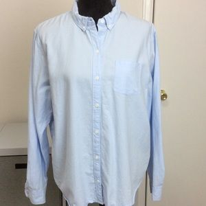 Universal Thread light blue Oxford style shirt